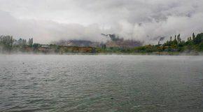 نگاره:  زمین از دل آبها برآمد و از دل زمین تالابهاو آسمان سراسر ابر و باران بود و بر آبها سراسر مه بودرعدی غرید و آذرخشی درخشید، مه کنار رفت، و پیش رویم، بر کرانه آبها، چشم در چشم من، تو ایستاده بودی…The #earth rose from #water, and from the earth the water rose.And all across the #sky there was #clouds and #rain, and all above the water it was #fogThe #thunder roared and the #lightning struck, the fog disappeared and before my eyes, on the water shore, you were standing…